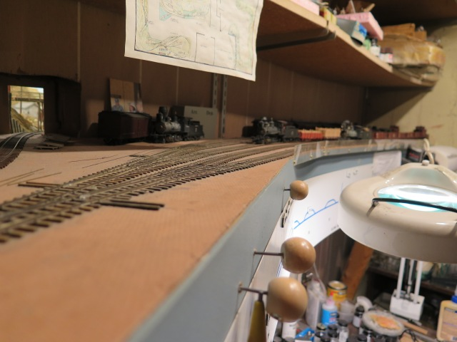 The east staging yard was above Paul's workbench.