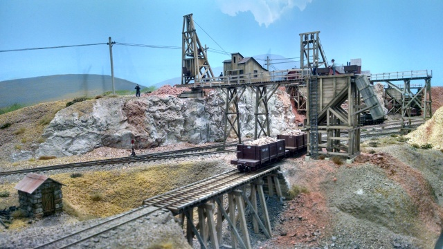 One of the mining scenes on the P&W