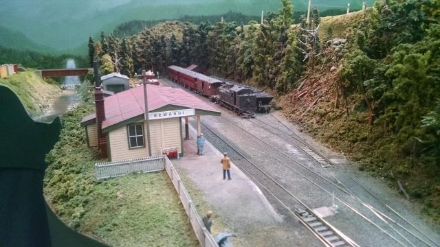 The depot at Rewanui on Max Maginness' Sn42 New Zeland Layout