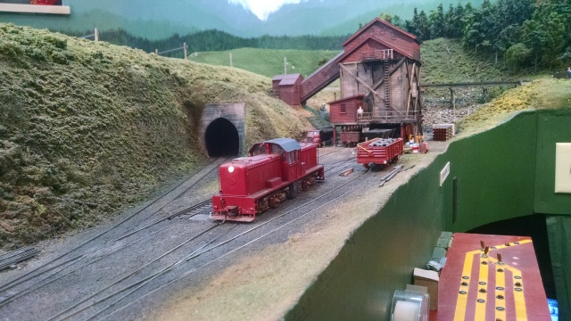 A mine scene on Max's layout.
